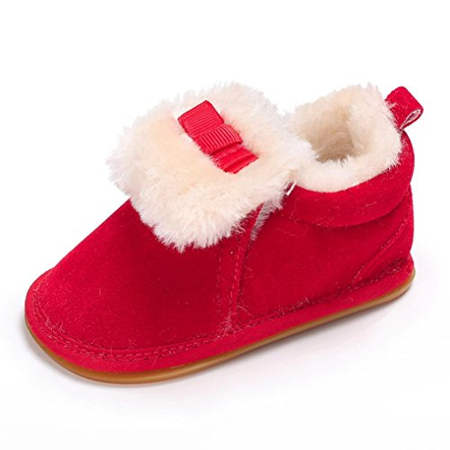 Baby Stiefel,Chshe Prewalker Säugling Süß Upper Baumwolle Sohle Gummi  Plüsch Anti-Rutsch Schuhe