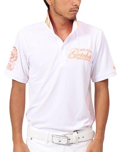 [ガッチャ ゴルフ] GOTCHA GOLF ポロシャツ 吸水速乾 ネオン使い ポロシャツ 182GG1216 オレンジ Lサイズ