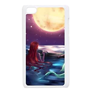 iPod Touch 4 Case White Disney the little mermaid Ariel 005 Yelcx