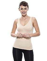 Franato Women's Tank Top Basic Layer Shapewear Firm Slim Smooth Soft Camisole