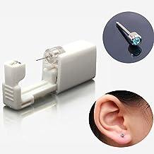 3mm Size Safety Disposable Sterile Body Ear Nose lip Studs Piercing Gun Kit...