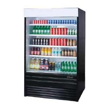 Turbo Air TOM-72E Vertical Open Display Merchandiser by Turbo Air