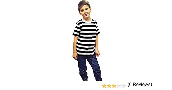 Islander Fashions Unisex Camiseta de Algod�n a Rayas en Rojo y ...