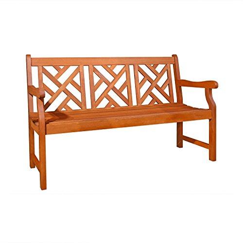 Vifah V188 Outdoor Wood Bench Natural Wood Finish 23 By