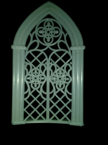 Church Window, 5.75'' Tall X 3.25'' Wide, White Plastic, Pack of 12 Pieces by NST (Image #1)