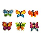 Paint by Numbers 5D Diamond Painting Kits Easy for Kids Arts and Crafts Kits Puzzles Mosaic Making Sticker for Notebook, Journal and Phone Best Gifts for Children-Butterfly