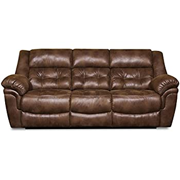 Exceptional Simmons Upholstery Wisconsin Beauty Rest Motion Sofa, Chocolate