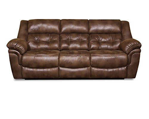 Simmons Upholstery Wisconsin Beauty Rest Motion Sofa, Chocolate