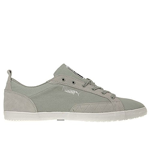 Puma - Slim Court Stripes Blocks - Color: Blanco-Gris - Size: 43.0