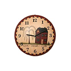Your Heart's Delight Live, Laugh, Love Wall Clock, 11-1/4-Inch