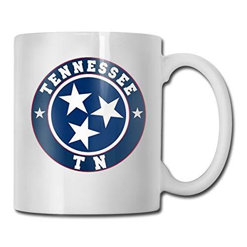 CLLXMUG Flag of Tennessee State Custom Coffee Mugs / 11oz Ceramic Tea Cup - Novelty Gift