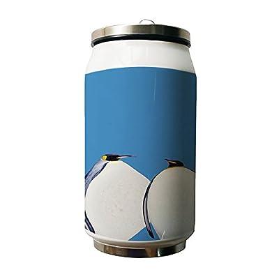 Okoukiu mignon pingouins Design Animal double Thermos en acier inoxydable Bouteille d'eau, 280ml