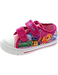 Paw Patrol Wicklow Pink Hook and Loop Trainers UK Sizes 5 -10