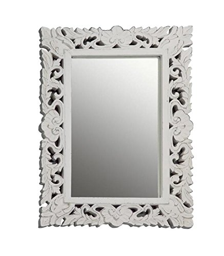 Novità Home Wood Mirror White Shabby Chic Pickled Aragon: Amazon.co ...