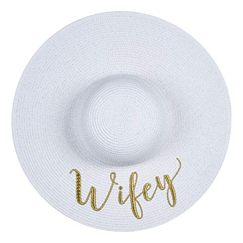 The Chic Soul Beach Floppy Straw Hat for Bridal Shower Gift Bachelorette Party - http://coolthings.us