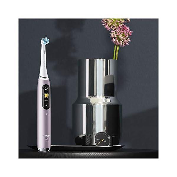 Oral-B iO – 9n – Brosse à Dents Électrique Rechargeable, 1 Manche Haut de Gamme Rose avec Technologie Magnétique…
