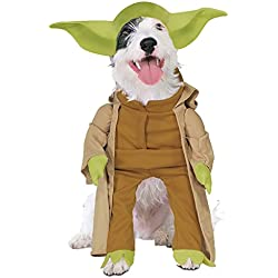 Rubie's Costume Co Star Wars Collection Pet Costume, Yoda with Plush Arms, Small