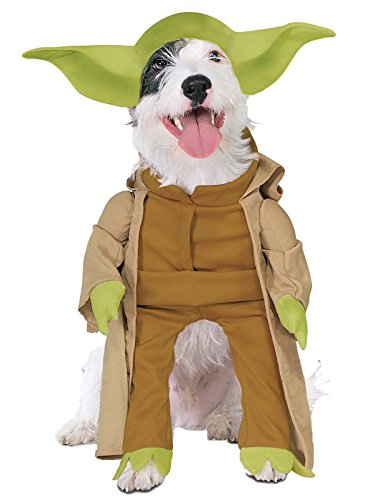 (Rubie's Star Wars Collection Pet Costume, Yoda with Plush Arms,)