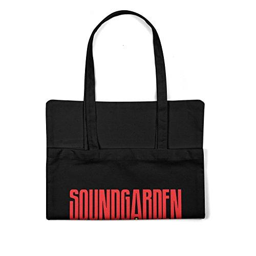 """Bolsa de tela """"Soundgarden"""" - tote bag shopping bag 100% algodón LaMAGLIERIA, Negro"""