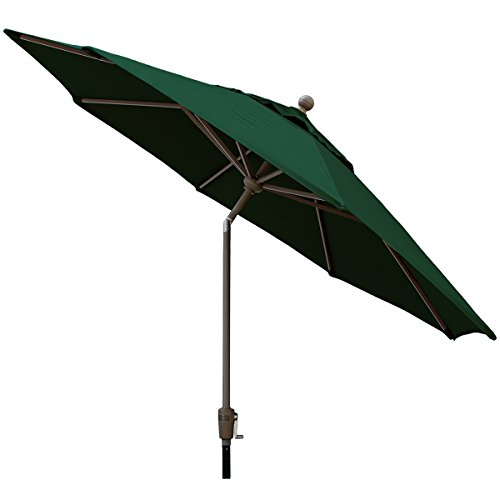 Sunbrella Outdoor 9Ft. Aluminum Market Umbrella in Forest Green by Comfort Classics Inc. Made in USA