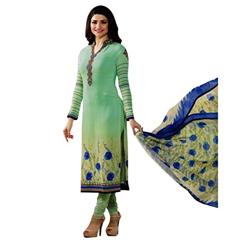 Designer Italian Crepe Embroidery Readymade Salwar Kameez Indian – 0X Plus, Green