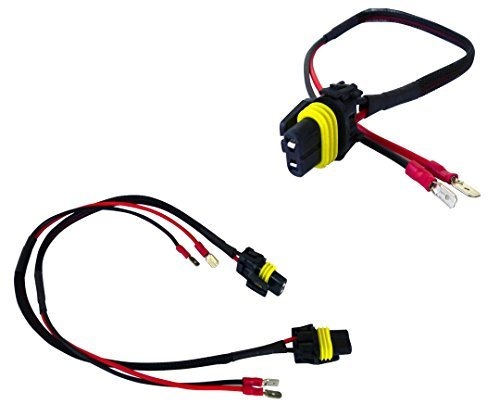 AGT H1 H3 Male Connectors Plugs Pigtail Bulb Wire Harness HID Input Wires (Pack of 2)