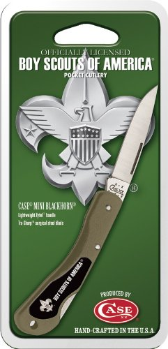 Case Olive Green Mini Blackhorn Pocket Knife
