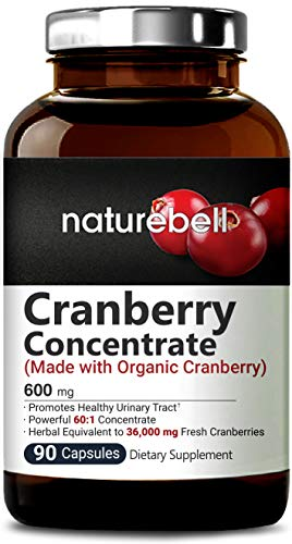 90 Capsules Cleanse Daily - Organic Cranberry Whole Fruit Concentrate, 90 Capsules, Equivalent to 36,000mg of Fresh Cranberries, Supports Urinary Tract Cleanse, Kidney, Bladder Health & Immune System, Non-GMO & Made in USA