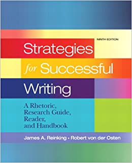 Book Strategies for Successful Writing: A Rhetoric, Research Guide, Reader and Handbook (9th Edition)
