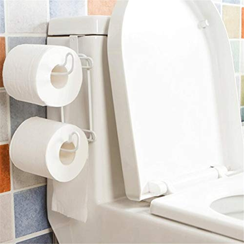 RONGT Toilet Paper Holder - Over The Toilet Tank Double Roll Tissue Towel Paper Holders Organizer for Bathroom Kitchen Storage Organization ()