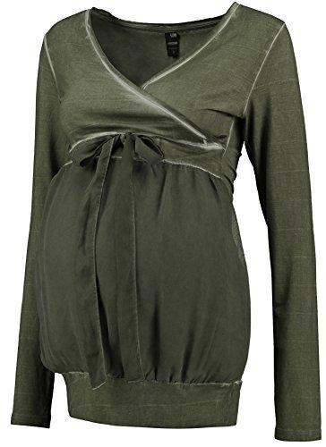 Love2Wait Umstandsshirt Nursing Damen Shirt V-Ausschnitt oil washed