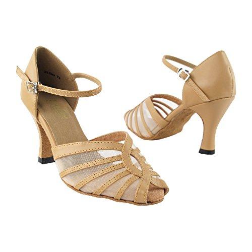 """Gold Taube Schuhe 50 Shades Of Tan Tanzkleid Schuhe Collection-III, Komfort Abend Hochzeit Pumps: Ballroom Schuhe für Latein, Tango, Salsa, Swing, Kunst von Party Party (2,5 """", 3"""", 3,5 """"Heels) 2719 Beige Leder & Mesh"""