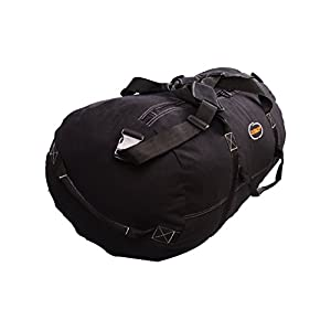 "Ledmark Heavyweight Cotton Canvas Outback Duffle Bag, Black, Large 30"" x 18"""