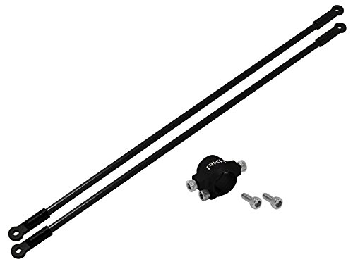 Rakonheli CNC AL Tail Boom Support Set (Black) - Blade 130S