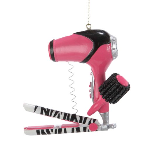 Christmas Ornament Blow Dryer with Curling Iron Ornament - Iron Ornament