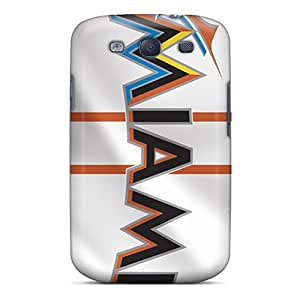 Samsung Galaxy S3 NaV6122BVoj Allow Personal Design Trendy Miami Marlins Pictures Shock Absorption Cell-phone Hard Cover -AlissaDubois