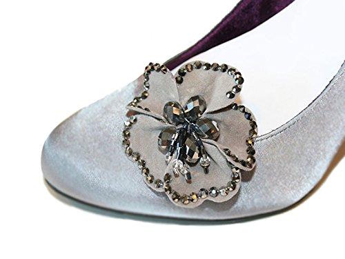 La Loria Damen Schuhclips Blink Flower Schmuck-Accessoires für Schuhe (2 Stück)
