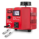 VEVOR 500VA Variac Transformer Max 5 Amp Variac Variable Transformer 0~130 Volt Output Variable AC Voltage Regulator for Industries Equipment Appliances