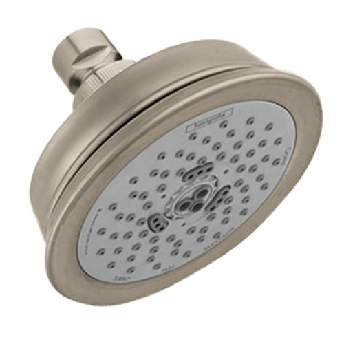 Hansgrohe 04080820 Croma C 100 Green 3-Jet Shower Head, Brushed Nickel