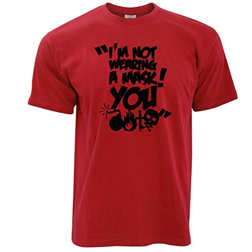 Im Not Wearing a Mask You Halloween Funny Party Costume Top Gift Adult Mens T-Shirt (Nerdy Girl Costume Ideas)
