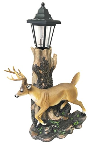 YTC Rustic Forest Emperor 12 Point Buck Deer Statue With ...