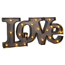 Truu Design, Marquee Symbol Light Love, 18 Inches, Grey