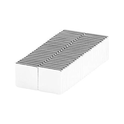 Universal Magnetic Holder Fastener Sticker Building 3/8x3/8x1/16 Square Block Magnets (50 Pack)