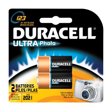Duracell DL123ABU 3V Ultra Lithium Battery, Value Pack of 2 Duracell Ultra Lithium Battery
