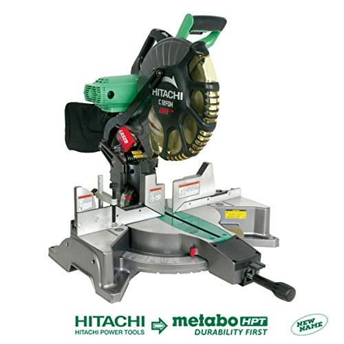Hitachi C12FDH 15 Amp 12-Inch Dual Bevel Miter Saw with Laser  (Discontinued by Manufacturer) (Hitachi 10 Inch Sliding Compound Miter Saw)