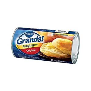 Pillsbury Grands Original Flaky Layer Biscuit, 16.3 Ounce -- 12 per case.