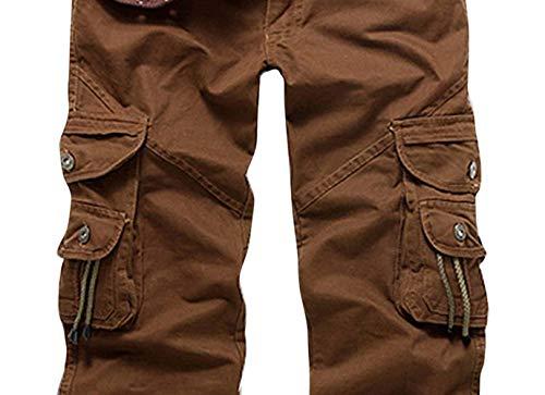 Cargo Lunghi Esterno Tasca Dotato Primavera Braun Con Autunno Multi Vintage Completo Da Pantaloni Uomo Carico Marrone Fz0qYfp6E