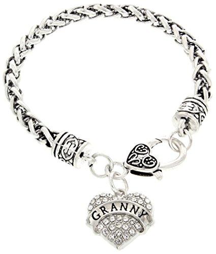 Gift Jewelry By Rachel Olevia Bracelet Best Granny Ever Crystal Adorned Heart Shaped Pendant Bracelet Gifts for Granny