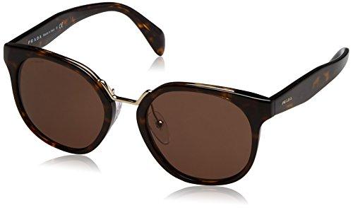 Prada PR17TS 2AU8C1 Havana PR17TS Square Sunglasses Lens Category 3 Size 53mm ()
