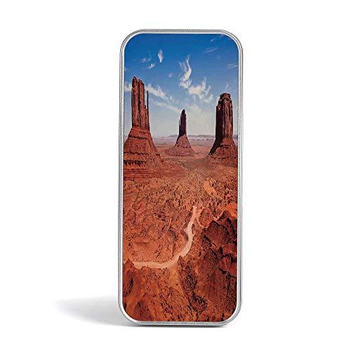 Eco Friendly,Mini Pencil Box,Western Decor,Gift,Jewelery and Storage Tin Kit,Home Organizer,American Desert Arizona Canyon Monuments Valley National Park Wild West